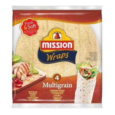 Tortilla graudu, 25cm, 16*245g (4gab), Mission
