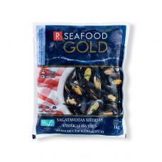 Mīdijas zilas, ASC, 40/60, sald., 5*1kg (t.s. 1kg), R Seafood