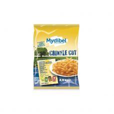 Kartupeļi fri gofrētie, 12x12mm, sald., 4*2.5kg, Mydibel