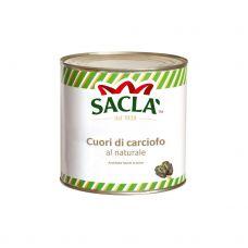 Artišoki, veseli, savā sulā, 6*2.5kg (s.s. 1.55kg), Sacla