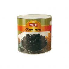 Olīvas melnās a/k, Hojiblanca, sālsūdenī, 240/260, 6*2.6kg (s.s. 1.6kg), Menu
