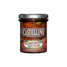 Tomāti, kaltēti saulē, ar zaļumiem, eļļā, 6*180g, Castellino